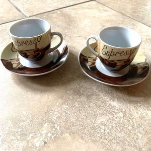 Espresso cups and saucers